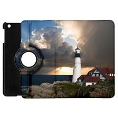 Lighthouse Beacon Light House Apple Ipad Mini Flip 360 Case