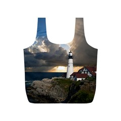 Lighthouse Beacon Light House Full Print Recycle Bags (s)