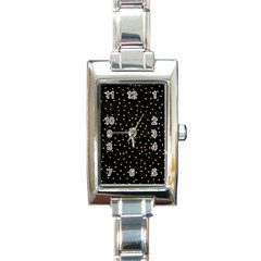 Grunge Pattern Black Triangles Rectangle Italian Charm Watch