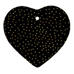 Grunge Pattern Black Triangles Ornament (heart)