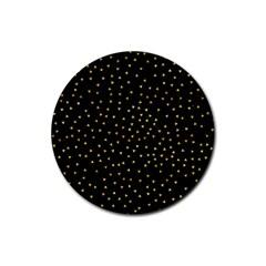 Grunge Pattern Black Triangles Rubber Coaster (round)