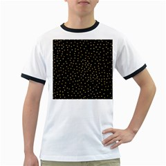 Grunge Pattern Black Triangles Ringer T Shirts