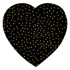 Grunge Pattern Black Triangles Jigsaw Puzzle (heart)