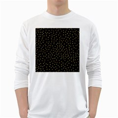 Grunge Pattern Black Triangles White Long Sleeve T Shirts