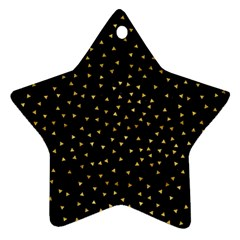 Grunge Pattern Black Triangles Star Ornament (two Sides) by Nexatart