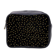 Grunge Pattern Black Triangles Mini Toiletries Bag 2 Side