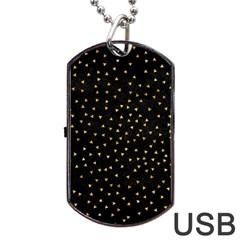 Grunge Pattern Black Triangles Dog Tag Usb Flash (one Side) by Nexatart