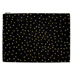 Grunge Pattern Black Triangles Cosmetic Bag (xxl)