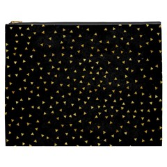 Grunge Pattern Black Triangles Cosmetic Bag (xxxl)