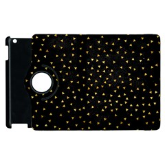 Grunge Pattern Black Triangles Apple Ipad 2 Flip 360 Case by Nexatart