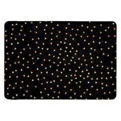 Grunge Pattern Black Triangles Samsung Galaxy Tab 8 9  P7300 Flip Case