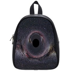 Black Hole Blue Space Galaxy Star School Bag (small) by Mariart