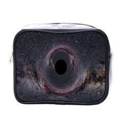 Black Hole Blue Space Galaxy Star Mini Toiletries Bags by Mariart