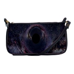 Black Hole Blue Space Galaxy Star Shoulder Clutch Bags by Mariart