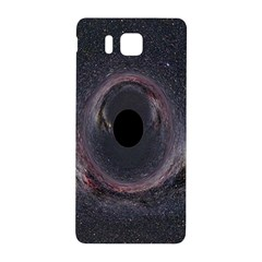 Black Hole Blue Space Galaxy Star Samsung Galaxy Alpha Hardshell Back Case by Mariart