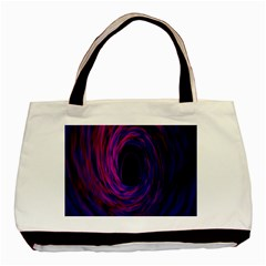Black Hole Rainbow Blue Purple Basic Tote Bag (two Sides) by Mariart