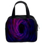 Black Hole Rainbow Blue Purple Classic Handbags (2 Sides) Front