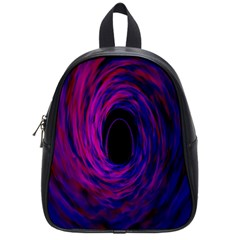 Black Hole Rainbow Blue Purple School Bag (small) by Mariart