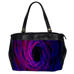 Black Hole Rainbow Blue Purple Office Handbags (2 Sides)  by Mariart