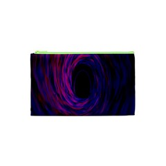 Black Hole Rainbow Blue Purple Cosmetic Bag (xs) by Mariart
