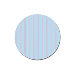 Bleu Pink Line Vertical Magnet 3  (round) by Mariart