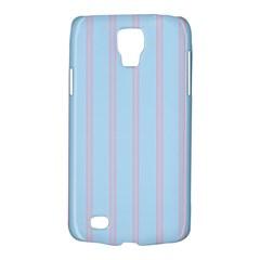 Bleu Pink Line Vertical Galaxy S4 Active by Mariart