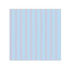 Bleu Pink Line Vertical Small Satin Scarf (square)