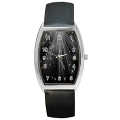 Black Rays Light Stars Space Barrel Style Metal Watch by Mariart