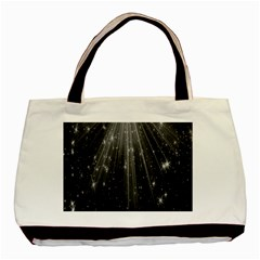 Black Rays Light Stars Space Basic Tote Bag (two Sides) by Mariart