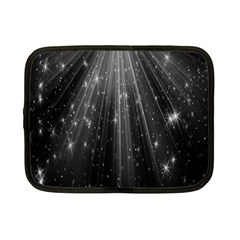 Black Rays Light Stars Space Netbook Case (small)  by Mariart