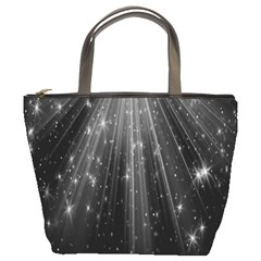 Black Rays Light Stars Space Bucket Bags by Mariart