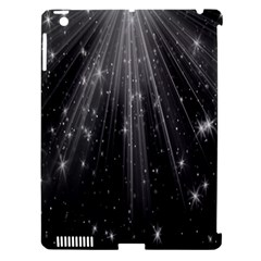 Black Rays Light Stars Space Apple Ipad 3/4 Hardshell Case (compatible With Smart Cover) by Mariart