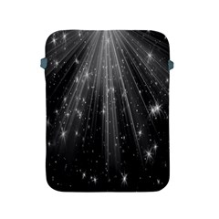 Black Rays Light Stars Space Apple Ipad 2/3/4 Protective Soft Cases by Mariart
