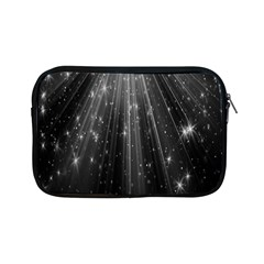 Black Rays Light Stars Space Apple Ipad Mini Zipper Cases by Mariart