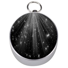 Black Rays Light Stars Space Silver Compasses by Mariart