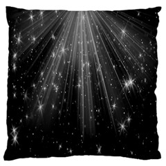 Black Rays Light Stars Space Large Flano Cushion Case (one Side) by Mariart