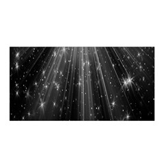 Black Rays Light Stars Space Satin Wrap by Mariart