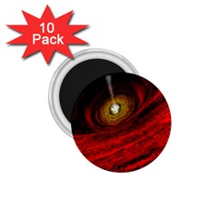 Black Red Space Hole 1 75  Magnets (10 Pack)  by Mariart