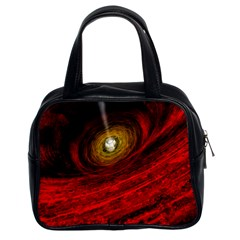 Black Red Space Hole Classic Handbags (2 Sides) by Mariart