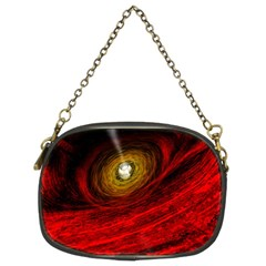 Black Red Space Hole Chain Purses (two Sides)  by Mariart