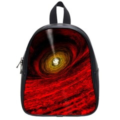 Black Red Space Hole School Bag (small) by Mariart