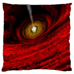 Black Red Space Hole Large Cushion Case (two Sides) by Mariart