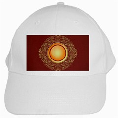 Badge Gilding Sun Red Oriental White Cap by Nexatart