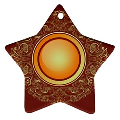 Badge Gilding Sun Red Oriental Ornament (star)