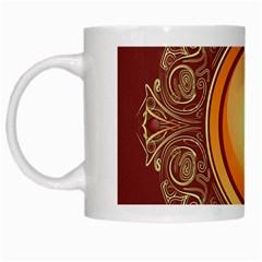 Badge Gilding Sun Red Oriental White Mugs by Nexatart