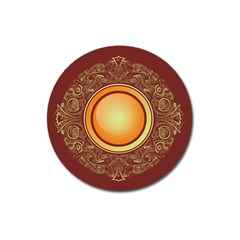 Badge Gilding Sun Red Oriental Magnet 3  (round)
