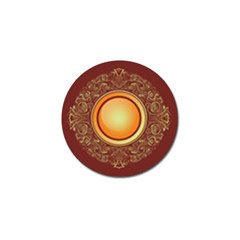Badge Gilding Sun Red Oriental Golf Ball Marker