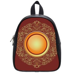 Badge Gilding Sun Red Oriental School Bag (small)