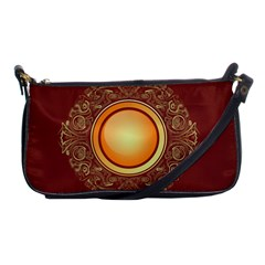 Badge Gilding Sun Red Oriental Shoulder Clutch Bags by Nexatart