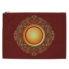 Badge Gilding Sun Red Oriental Cosmetic Bag (xxl)